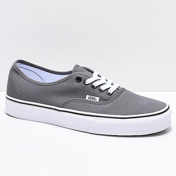 vans grey shoes mens